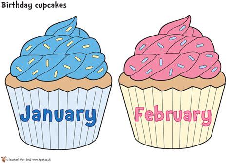 cupcake birthday chart template 6 best images of free printable birthday chart cupcake