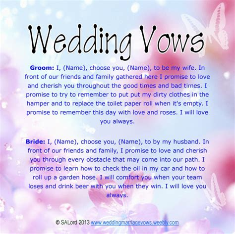 vow template quotes wedding vows quotesgram