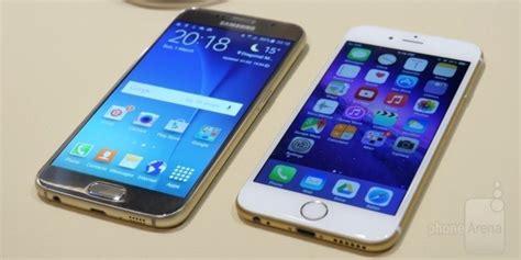 Samsung S6 Vs Iphone 6 samsung galaxy s6 vs apple iphone 6 look