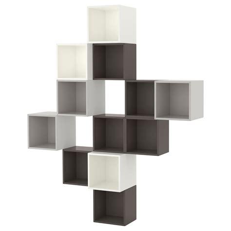 Storage Units Ikea eket wall mounted cabinet combination white dark grey