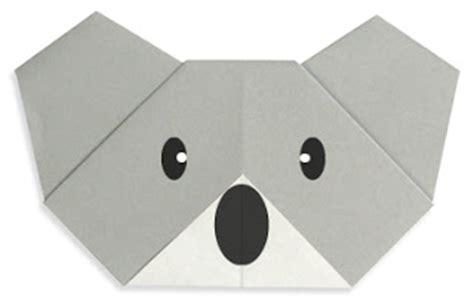 Origami Koala - koala easy origami for