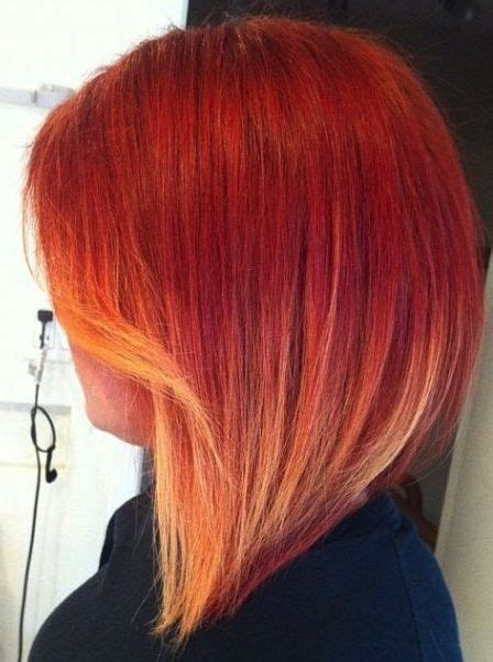 red and blonde hombre pics short layered red ombre hair what are the best short