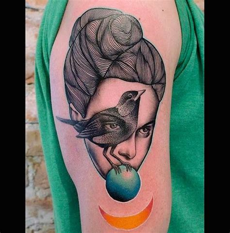surrealism tattoo this artist s surrealist designs belong in the moma