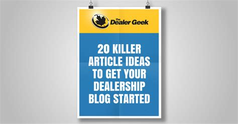 20 killer article ideas to get your car dealership