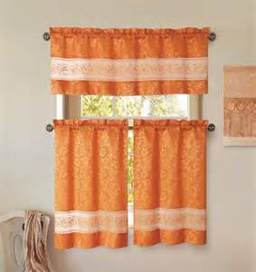 burnt orange kitchen curtains decorating windows curtains
