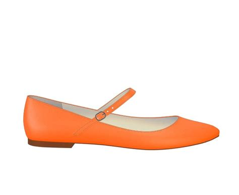 orange flat shoes for orange ballet flats design your own shoes of prey