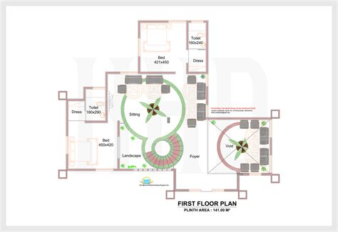 kerala home design 2d 2d elevation and plan of 4bhk luxury house 4198 sq ft