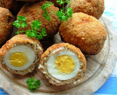 picnic time authentic scotch eggs with sausage and sage for herbs on saturday