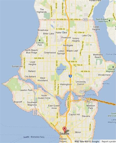seattle map of usa map of seattle world easy guides