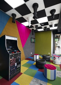Gaming Room Decor Room S Kuala Lumpur Offices Arcade Chess Board Ceiling Gaming