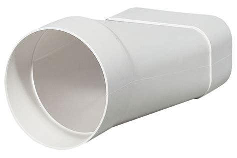 matte duct pipe to flat duct converter 125 soft flat ducting