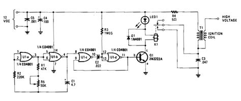 electric fence energizer circuit diagram 12v wiring diagram