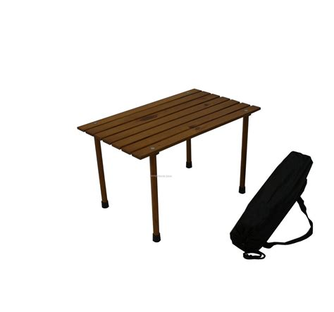 small low wood portable table in a bag china wholesale
