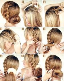 put your hair in a bun with braids 37 tipos de peinados con trenzas 2017 f 225 ciles paso a paso