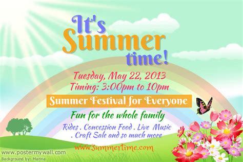 summer event flyer template postermywall