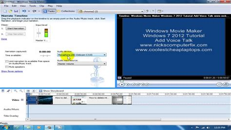 Windows Movie Maker Voice Over Tutorial | windows movie maker windows 7 2012 tutorial do voice