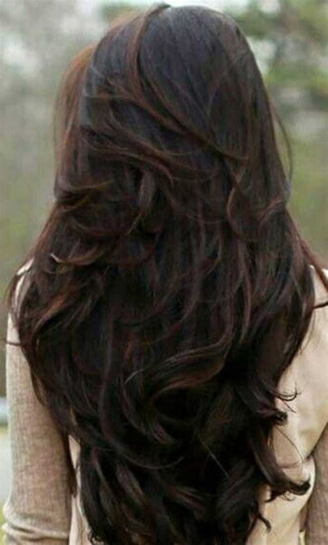 feathered and layered hairstyles on dark brown hair 40 best long layered haircuts hairstyles haircuts
