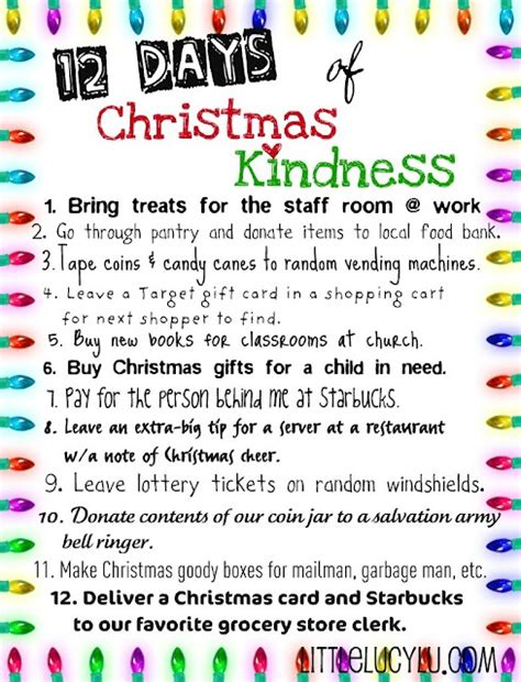12 days of christmas gift ideas for coworkers random acts of kindness idea for the season helps to remind us it is better to