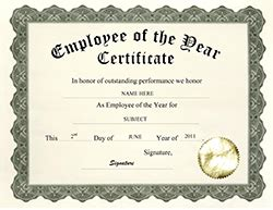 employee of the year certificate template free free certificate templates for business thepaperseller