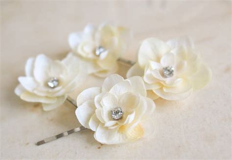 36pcs hair pins bridal flower crystal rhinestone mini hair claws ivory cream rhinestones flower hair pins 4 pcs bridal