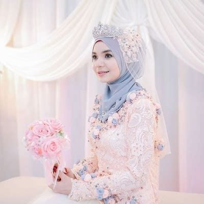 model kerudung untuk pengantin beautiful sederhana pernikahan pengantin baru pengantin