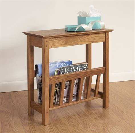 side table with l and magazine rack chairside magazine rack by manchester wood traditional