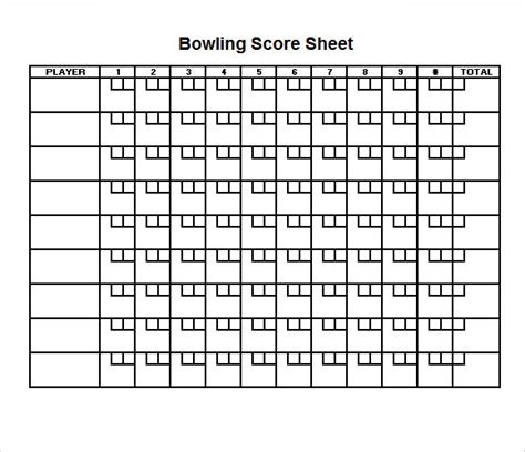 Bowling Score Sheet Template sle bowling score sheet 9 documents in pdf psd