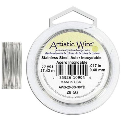 artistic wire 26 stainless steel grade 304 30 yards frabels inc