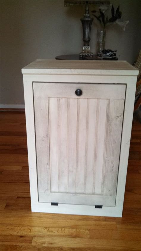 cabinet garbage can wooden made trash bin cabinet rustic farm style