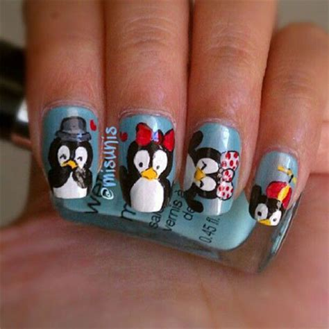 simple nail art designs 2014 simple penguin nail art designs ideas 2013 2014