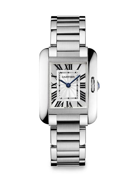 Cartier Water Resistant Cufflinks In Silver Real 11 Best Quality cartier tank anglaise small stainless steel bracelet