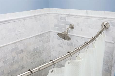 l shaped shower curtain rod brushed nickel tension shower curtain rod brushed nickel home design ideas