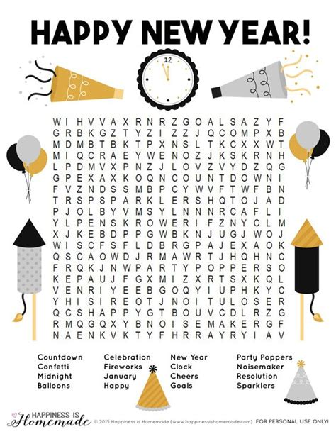 printable games for new years eve party 10 new year s eve activities for kids homemade happy
