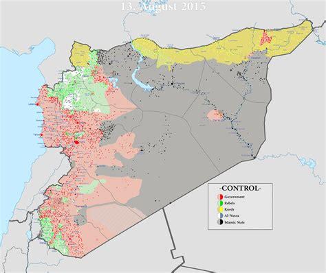 landkartenblog syrienkarte august 2015 is verliert