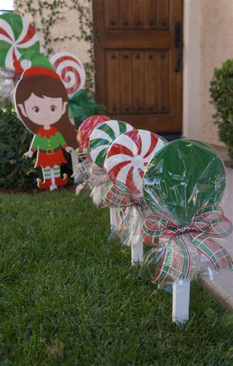 how to make outdoor decorations 1000 ideas about lollipop decorations on
