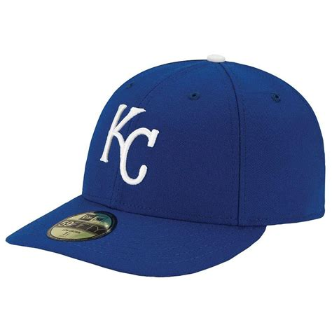 kansas city royals low crown 59fifty on field fitted hat