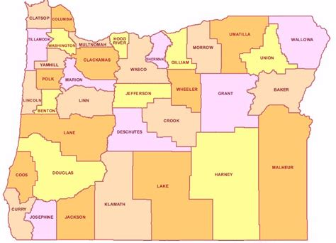 map of oregon by county oregon counties map cities state map map of usa states