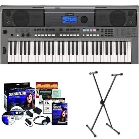 Keyboard Yamaha Psr E443 Bekas yamaha psr e443 61 key keyboard yamaha pkbs1 stand yamaha skd2 survival kit instruments sale