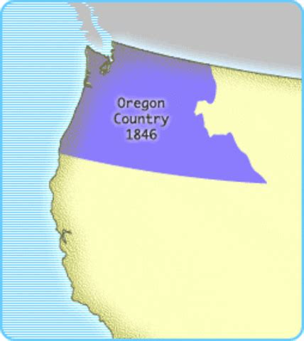 map of oregon territory 1846 u s territorial acquisitions timeline timetoast timelines