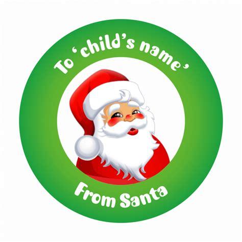 printable santa stickers cartoon christmas present cliparts co