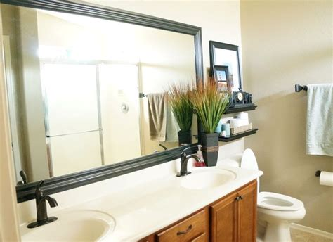 frame around mirror in bathroom 1000 ideas about frame bathroom mirrors on