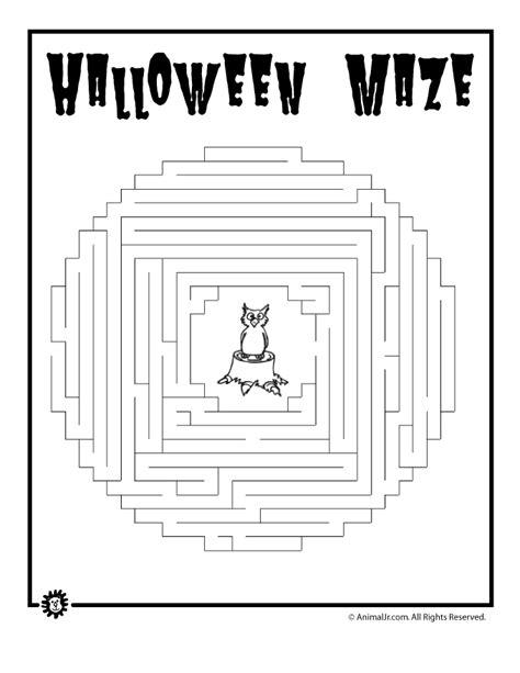 printable sewing maze halloween owl maze woo jr kids activities