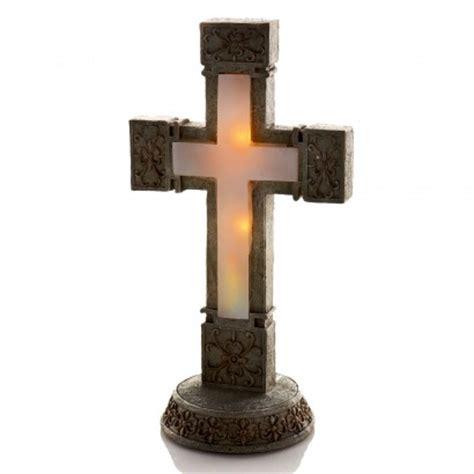 solar light cross solar memorial garden cross