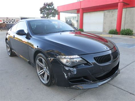bmw damaged repairable cars for sale light collision 2009 bmw m6 coupe repairable for sale