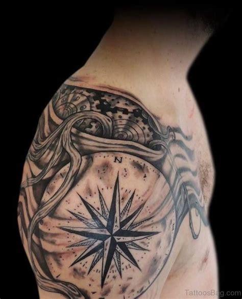 compass tattoo black 50 amazing compass tattoos on shoulder