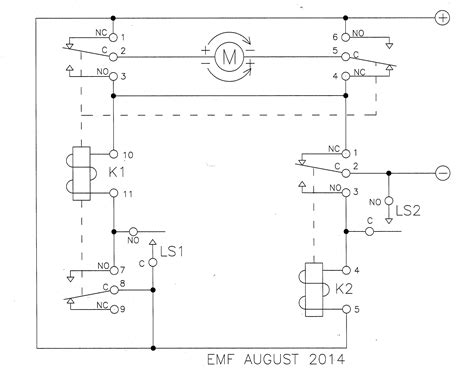relay limit switches to motor direction
