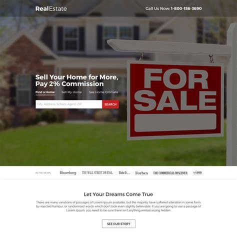 Landing Page Design The Best Real Estate Landing Pages by Real Estate Landing Page Design Templates For Real Estate