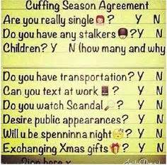 Cuffing Season Meme - cuffing season is here are you ready we don t gossip