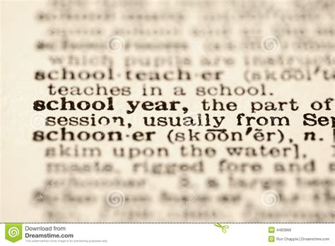 Academic Year Mba Meaning by School Year Definition Stock Photo Image Of