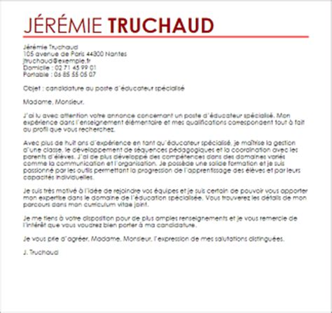 Exemple Lettre De Motivation Candidature Spontanée Educateur Exemple Lettre De Motivation Educateur Sp 233 Cialis 233 Livecareer